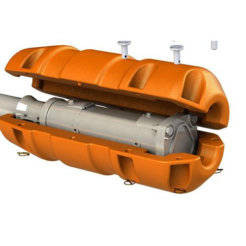 Dragline Face Shovel Cable Plug Protector - Open
